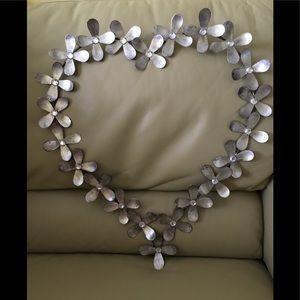 Heart shaped wall hanging